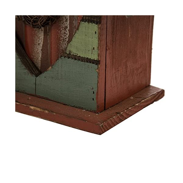 Glitzhome-Distressed-Leaves-Wooden-Birdhouse