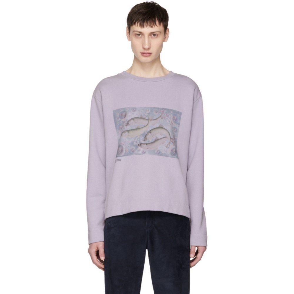 (アクネ ストゥディオズ) Acne Studios メンズ トップス スウェットトレーナー Purple Oslavi P Fish Sweatshirt [並行輸入品] B07D15YVHH   L