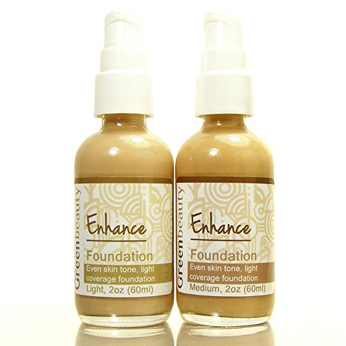 Creamy Natural Foundation, Green Beauty liquid mineral foundation with light coverage, eco friendly, cruelty free mineral cream foundation that works for mature skin. by Green Beauty Cosmetics