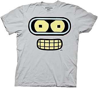 Futurama Bender Face Mens T-shirt, XXXL