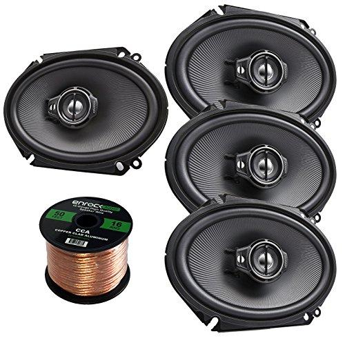 8 Line Package (Car Speaker Package Of 4x (2 Pairs) Kenwood KFC-C6895PS 720-Watt 6x8