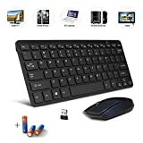 Bestdeal Black Wireless Mini Ultra Slim Keyboard and Mouse for Acer Aspire ES / E 11 Laptop