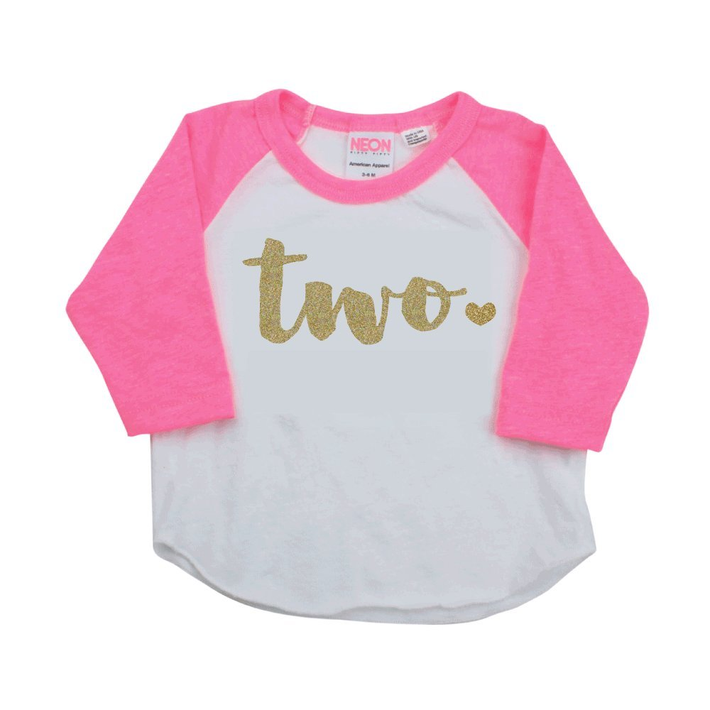 Girl Second Birthday Outfit Shirt Two Year Old 2t
