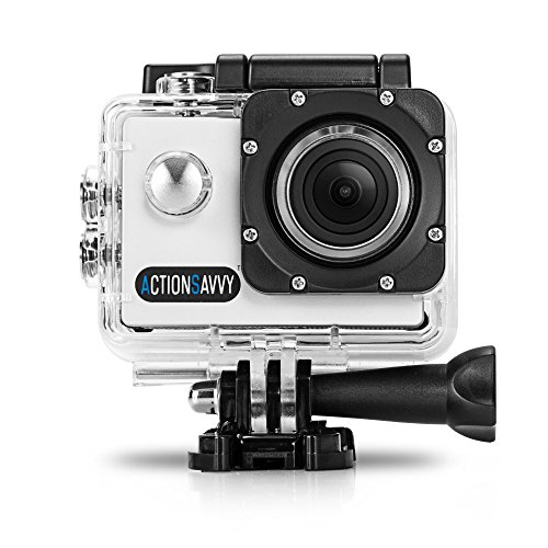 [ActionSavvy 007 1080P HD Action Camera 50m/164feet Waterproof 15 Mounts 2' Screen HDMI Diving Helmet Surfing Snorkeling Biking Camera] (Wrist Mount Fishfinder)