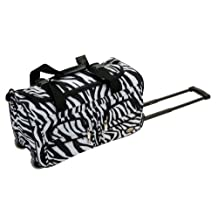 Rockland PRD322 Luggage Rolling Duffle Bag, Zebra, Small, 22-Inch