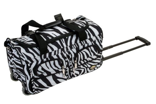rockland-luggage-22-inch-rolling-duffle-bag-zebra-small