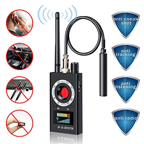 Anti Spy Detector, Camera Finder, Wireless Bug Hidden Camera Detector for GPS Tracking GSM Listening Device Finder, Radio Frequency RF Detector