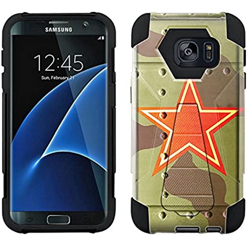 Samsung Galaxy S7 Edge Hybrid Case Soviet Air Force War Plane Fuselage 2 Piece Style Silicone Case Cover with Sales