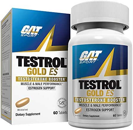 GAT - TESTROL GOLD ES - NEW - Testosterone Booster with Estrogen Support, Builds Muscle, Increases Stamina, Enhances Performance (60 Tablets)