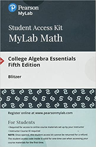 Mylab math with pearson etext standalone access card for mylab math with pearson etext standalone access card for college algebra essentials 5th edition cisco top score nrp 5th edition fandeluxe Gallery