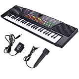 New 54 Keys Music Electronic Keyboard Kid Electric Piano Organ W Mic & Adapter