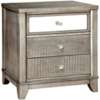 HOMES: Inside + Out ioHOMES Nilean Contemporary Nightstand, Silver