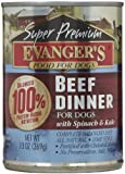 EVANGER'S 776111 12-Pack Gold Super Premium Grain Free Beef Dinner for Dogs, 13-Ounce, My Pet Supplies