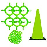 Mr. Chain 93214 Traffic Cone and Chain Kit, Safety Green