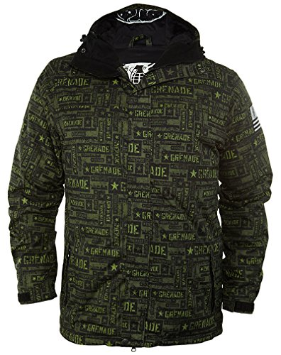 Limited Snowboard Jacket (Grenade Task Force Snowboard Jacket Green Mens Sz M)