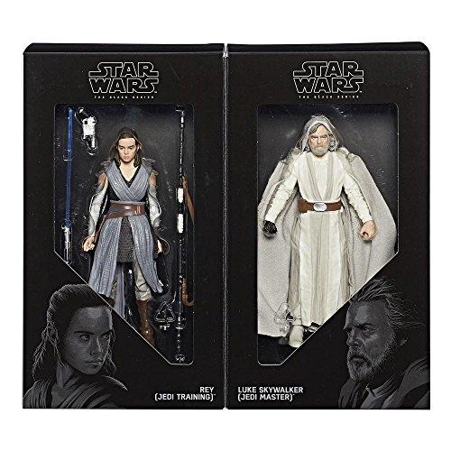 Star Wars Black Series Jedi Training Rey and Jedi Master Luke Skywalker Figure Set