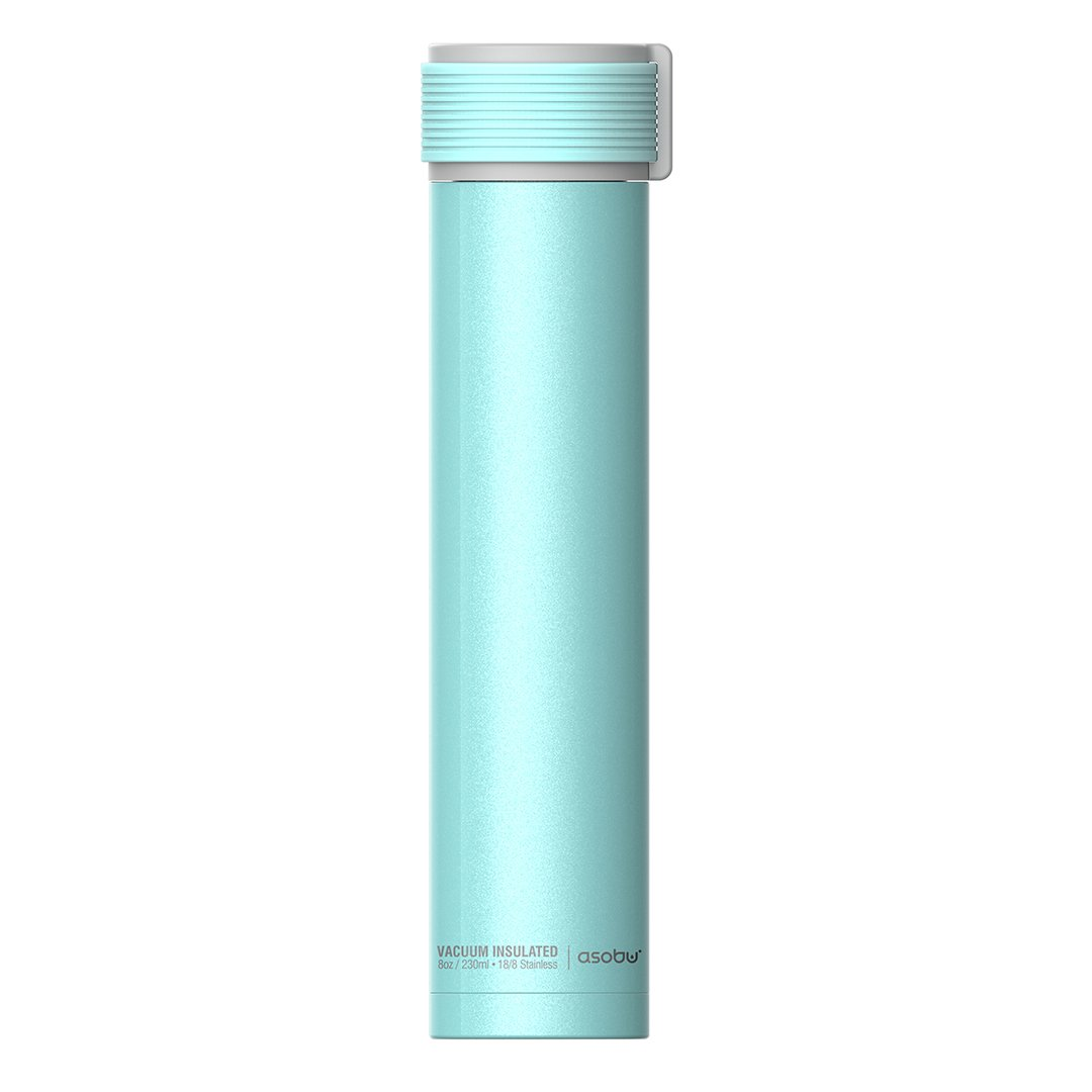 Amazon.com: The Asobu Skinny Mini 8oz Fashion Forward Double Walled Stainless Steel Insulated Water Bottle (Teal): Kitchen & Dining
