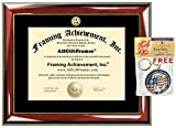 College Diploma Frame with Choice of University Major Gold Seal Insignia Single Black Mat College Degree Frames Graduation Diploma Framing Gift Certificate Prestige Mahogany