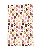Interestlee Fleece Throw Blanket Donuts and Little Hearts Pattern Colorful Yummy Delicious Dessert Cafeteria Restaurant Art Pink Brown