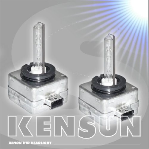 Premium HID Xenon Low Beam Headlight Replacement Bulbs - by Kensun - (Pack of two bulbs) - D1S - 6000K