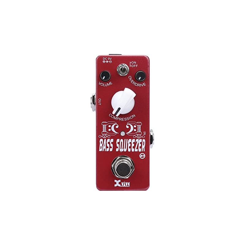 Xvive Bass Pedal Distortion,Compressor,d
