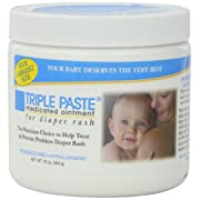 Triple Paste Medicated Ointment for Diaper Rash - Fragrance Free - 16 oz