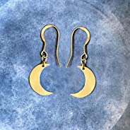 Gold Little Moon Earrings