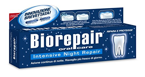 4pcs Biorepair - Intensive Night Repair Toothpaste 75 Ml Mineralize Enamel Protection Plague Fill Holes Gradually Microparticle Repairs Protect Tooth Enamel Helping to Prevent Repair Decay (Bio Teeth)