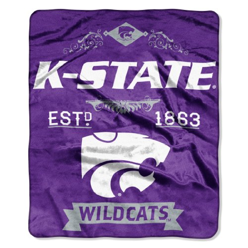 NCAA Kansas State Wildcats College Label Raschel Throw, 50 x (Kansas State Blanket)