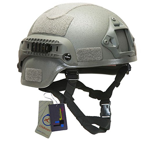 (OSdream MICH 2000 Tactical Helmets - Thickness 6mm (Grey))