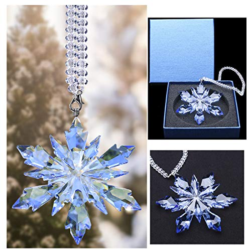 Qf Frozen Edition Glass Pendant, Crystal Hanging Ornament, Colletible Snowflake ()