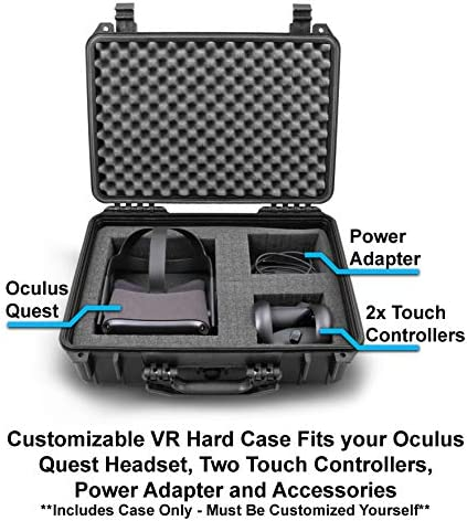 Casematix 18 inch Waterproof Vr Headset Case Compatible with 2019 Oculus Quest and Controllers in Customizable Foam 51tf3QNpeNL