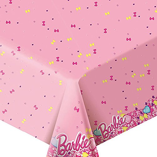 Rosman 1psc Tablecloths Polyethylene Barbie Birthday (72inch) Party Favors Party Supplies