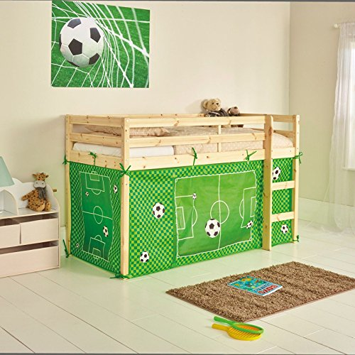 Chad Valley Football Tent for Shorty Mid Sleeper Bed Frame: Amazon ...