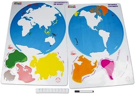 Descubre los Continentes del Mundo: Amazon.es: Oficina y papelería