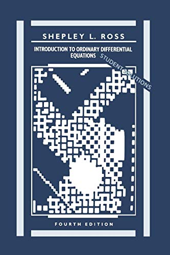Introduction to Ordinary Differential Equations, Student Solutions Manual, 4th Edition