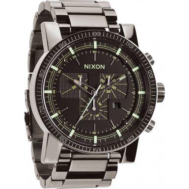 Nixon A457-1885 Mens Magnacon SS II Polished Gunmetal Lum Watch