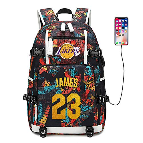 Jordan Basketball Player - Basketball Player Star James Multifunction Backpack Travel Student Backpack Fans Bookbag for Men Women (Style 3)