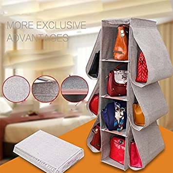Lecent@ Large Size(10u0026quot;w X 15u0026quot;d47h) Homewares Hanging Handbag  Organizer