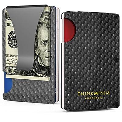 Money Clip Minimalist Wallet Case Aluminum RFID Premium Design for Men Women