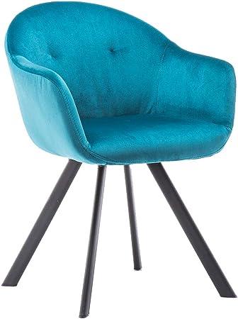 Medidas: 77,5 x 54,5 x 56,5 cm (alto x largo x ancho),Color: azul,Materiales: metal y tejido imitaci