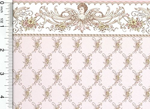 Dollhouse Wallpaper Edwardian St. Elizabeth - Pink