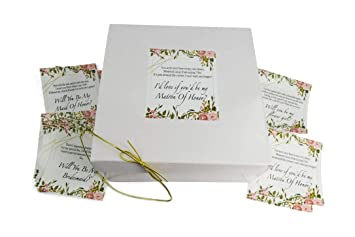 Will You Be My Bridesmaids Gift Boxes 8x8x3 5 Set Of 10 Empty Boxes With 16 Poem Proposal Labels