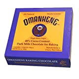 Omanhene Dark Milk Chocolate for Baking (48% Cocoa Content), 14.6-Ounce Boxes (Pack of 2)