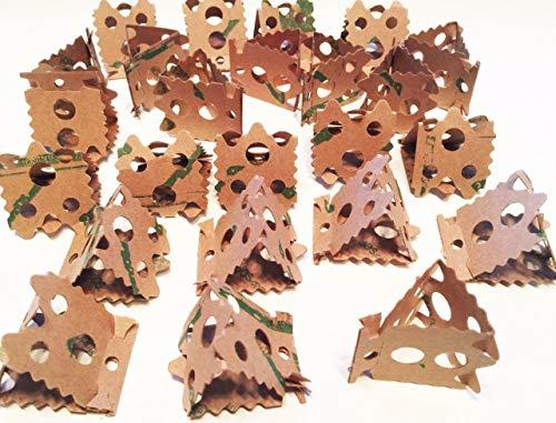 Bonka Bird Toys 1222 24pc Foraging Card Crumbles Foot Talon Bird Toy (Cardboard Bird Toys)