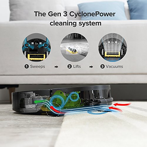 ILIFE A7 Cleaner Suction, LCD Display, Multi-Task WiFi APP Dual Roller for Hard Floor and Thin Carpets