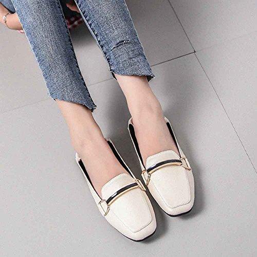 classicSquare Shoes apricot Women's Dress Flat Plaid Petticoat Flats Ballet LIURUIJIA wAO5Cfqf