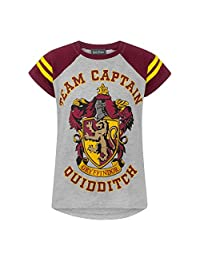 HARRY POTTER Official Girls Gryffindor Quidditch Team Captain T-Shirt