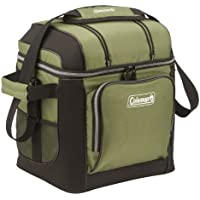 Coleman 30-Can Soft Cooler with Hard Liner (Green or Red)