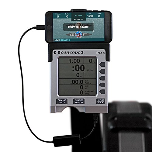 LiveRowing Concept 2 Connector for Smartphones - Rowing Machine Accessories for Your PM3, PM4, PM5 Erg Machine - Plus FREE LiveRowing App